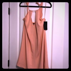 NWT ❣️ Zara Peach Low-Cut, String-Tie Dress